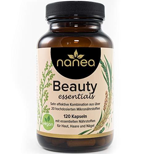 Haar Vitamine und Haut Vitamine - vegane Kapseln für Haut, Haare und Nägel - mit natürlichem Plus an Pflanzenextrakten aus Hirse, Schachtelhalm und Alge