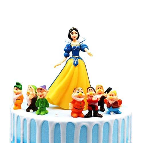 Toppers para Tartas,Caricatura Cake Topper Cumpleaños Topper de Tarta Decoración Suministros Princesa Doll Modelos Juguete Figura Mini Doll Decoraciones de Pasteles cumpleaños
