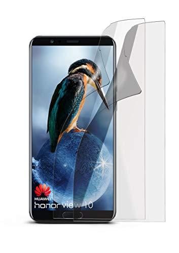 moex Schutzfolie matt kompatibel mit Huawei Honor View 10 - Folie gegen Reflexionen, Anti Reflex Bildschirmschutz, Matte Bildschirmfolie - 2X Stück