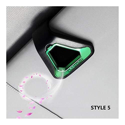 Ambientador for el coche regalo Decoración Naturaleza Perfume Olor aromatizantes parasol del asiento trasero Auto Accesorios Interior (Color : 06)