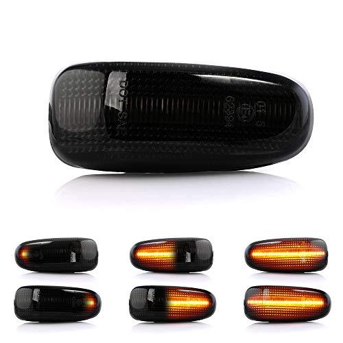 2 X LED Blinker Seitenblinker Blinkleuchte Dynamisch Laufblinker Kotflügel-Blinker mit E-Prüfzeichen V-170227LG