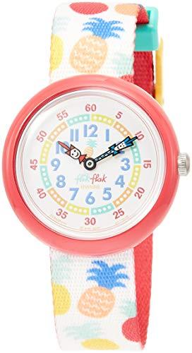 FlikFlak Mädchen Analog Quarz Uhr mit Stoff Armband FBNP110