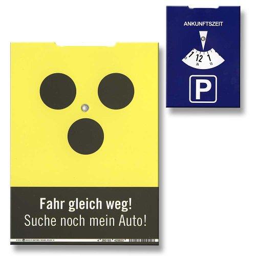Parkscheibe Blind Fahr gleich weg! Suche noch mein Auto!