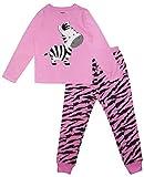 SHOPPE 'N' SMILE Conjunto de pijama de algodón con estampado de cebra para niñas
