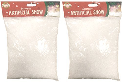 2 x 140g Bags Decorative Artificial Snow Christmas Snowflakes Fake Snow Scene Decoration