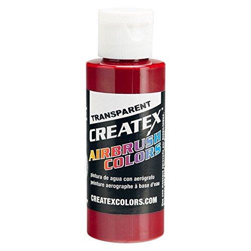 Airbrush Transparent Paint Capacity: 4 Oz, Color: Deep Red by Createx