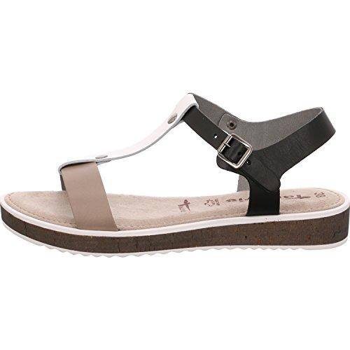 Tamaris1-1-28102-28/059 - Scarpe con Cinturino alla Caviglia Donna, Nero (Pettine Nero), 38 EU