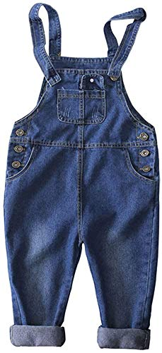 Ladyful Baby Kleinkind Jungen Mädchen Latzhose Jeans Hosen Overall Lange Jumpsuit (Stil 1, 120)