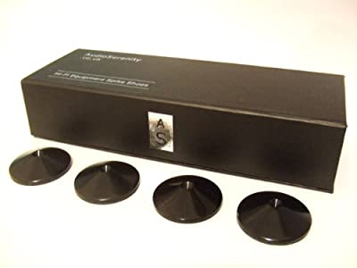 Set of 4 AudioSerenity Satin Black Hi-Fi Spike Shoes from Audioserenity