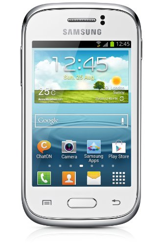 Samsung Galaxy Young S6310N Smartphone (8,1 cm (3,2 Zoll) Touchscreen, Cortex A5, 1GHz, 768MB RAM, 4GB interner Speicher, 3,2 Megapixel Kamera, Android 4.1) weiß