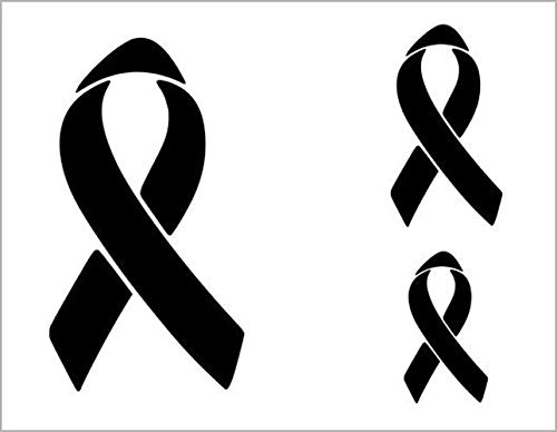 RIBBON 3 Sizes Raise Awareness Breast Cancer Stencil Austin 2021 spring and summer new Mall 11