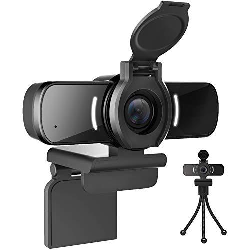 LarmTek Webcam fur PC1080P Webcam mit Webcam AbdeckungUSB Computerkamera mit integriertem Mikrofon fur Live Streaming Spiele fur Videokonferenzen