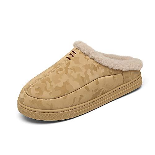 CELANDA Invernali Pantofole da Casa per Donna Uomo Memory Foam Scarpe Caldo Peluche Ciabatte Impermeabile Cotone Scarpe Interno Esterno Antiscivolo Slipper
