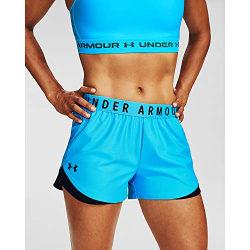 Under Armour Damen Kurz Play Up Shorts 3.0, Equator Blue/Black/ (417), M, 1344552-417