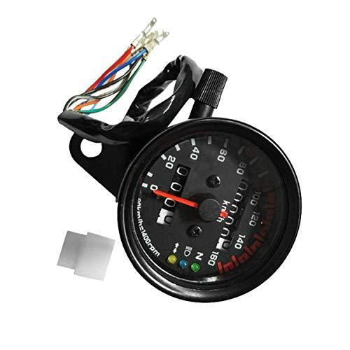 Not a brand Velocímetro Velocímetro de la Motocicleta odómetro Dual Gauge Medidor de Velocidad con LCD Indicador El indicador de Velocidad