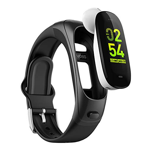 DSMART H3 Smartwatch 3in1 Smartband Sports Smart Watches with TWS Bluetooth Wireless Headsets+ All-Day Heart Rate Blood Pressure Sleep Health Monitor+ Fitness Activity Tracker for Men & Women(BLK)
