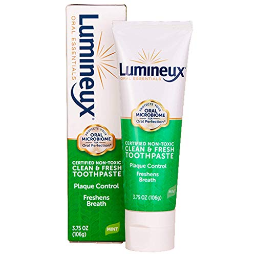 Lumineux Oral Essentials Toothpaste | Fresh Breath | Fluoride Free, Certified Non Toxic | NO Artificial Flavors, Colors, SLS Free, Dentist Formulated | Fresh Breath 2 Weeks (Pack of 2)