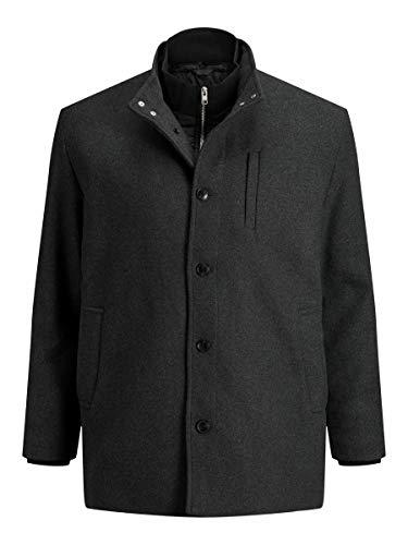 Jack & Jones JJDUAL Wool Jacket PS Chaqueta Lana, Gris Oscuro, XXXXL para Hombre