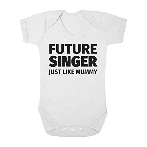 DKISEE Body unisex para bebé futuro cantante igual a la momia blanco divertido bebé mameluco manga corta bebé mono 6 meses