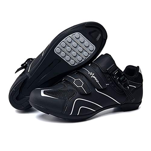 1 Pair Breathable Carbon Fiber Cycling Shoes Road & Mountain Bike Shoes with Non-Slip Sole for Cycling Competitions, Mountain Bikes