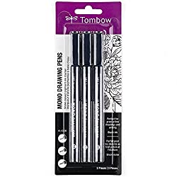 Tombow mono drawing pens for journaling