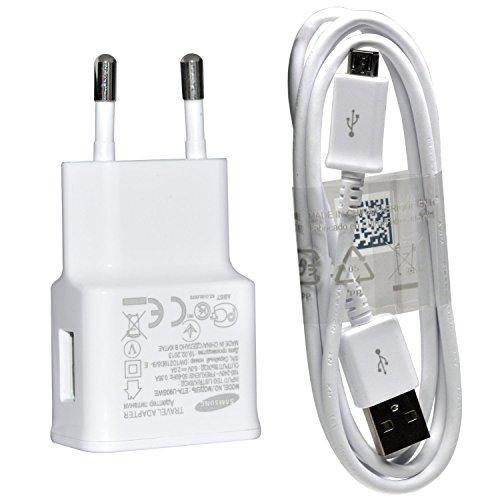 Samsung Ladegerät ETA-U90EWE Schnellladegerät 2.0A / 2 Ampere mit Ladekabel Datenkabel ECB-DU4AWE ,weiss