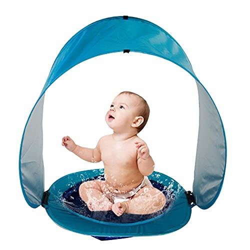 Carpa De Playa para Bebés con Piscina, UPF50 + Carpa De Sombra Emergente para Bebés, Protección UV De Verano Refugio Solar Sombrilla De Playa para Bebés Mini Piscina