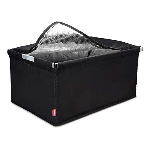 achilles Big-Box Cool mit Kühleinsatz Einkaufs-Box Transport-Kiste Klapp-Box Falt-Korb Kühl-Tasche Kühl-Einsatz Thermo-Tasche Isolier-Kiste Lebensmittel-Transport schwarz 61,5 cm x 42 cm x 29 cm