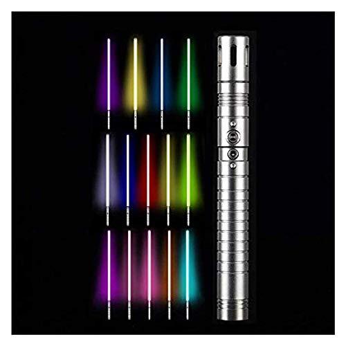 Star Wars Sable de luz Que Cambia de Color Espada láser Desmontable Mango de Metal con Efectos de Sonido Luz de Juguete RGB 11 Espada de Color Mango de Metal de Juguete 100 cm