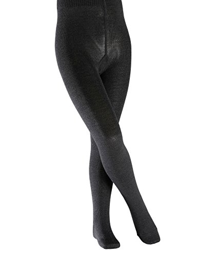 FALKE Kinder Strumpfhosen Comfort Wool - Merinowoll-/Baumwollmischung, 1 Stück, Grau (Anthracite Melange 3080), Größe: 152-164