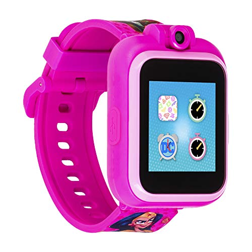 PlayZoom DC Superhero Girls Official Smartwatch for Kids Camera with Video Record, Educational Games and Activities, Alarm, Calendar, Stopwatch, and Camera Remote