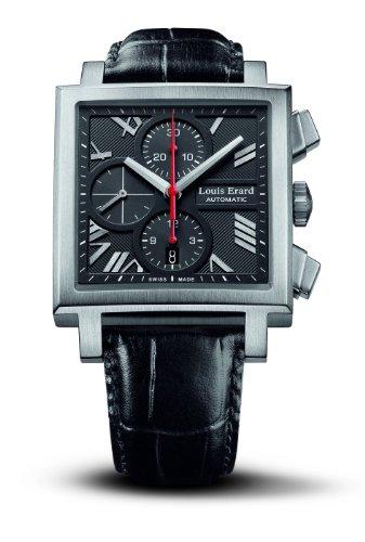 Louis Erard 77504AS02.BDC33 - Orologio automatico da uomo con cinturino in...