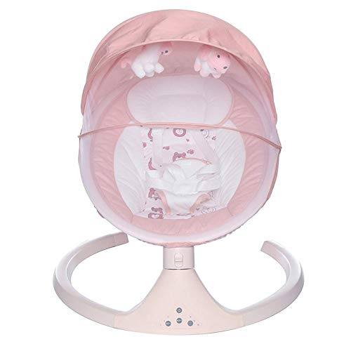 HWZZ Cuna Eléctrica Inteligente Bluetooth Cama De Bebé Silla Mecedora De Seguridad con Música Cómoda Adecuada para Bebés De 0 A 3 Años para Que Los Recién Nacidos Duerman,Verde