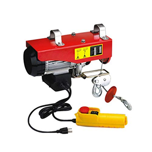 Mxmoonant Electric Hoist Crane 440lbs Overhead Lifting Hoist with Wire Remote Control for Household Warehouse Factories Lifting