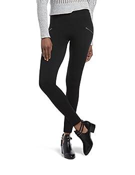 HUE Women s Brushed Seamless Leggings Assorted Black - Moto M/L