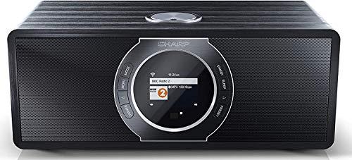 Sharp DR-I470(BK) Pro Radio Internet Digital Estéreo con sintonizador Dab/Dab+/FM, Bluetooth V2.1 + EDR, Control Total Desde App Sharp, Spotify, Función Despertador con repetición de Alarma, Negro