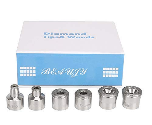 Diamond Dermabrasion Head Microdermabrasion Exfoliator Home Facial Dermabrasion Tool Dermabrasion Replacements 6Tips