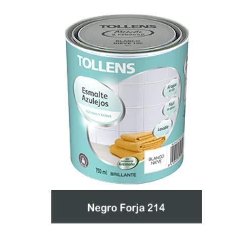 Tollens - Esmalte para azulejos al agua 750 ml (Negro Forja 214)