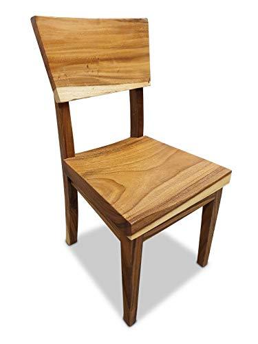 Suar Esszimmer Stuhl - Sitzmöbel aus massivem Akazienholz - Natürliches Massivholz für Esszimmer oder Küche