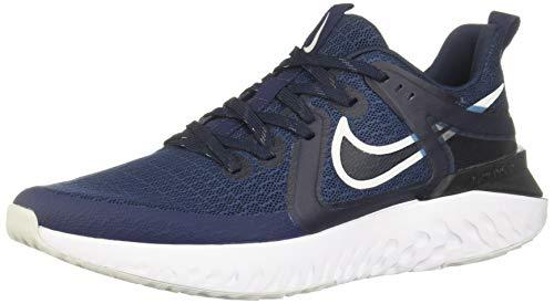 Nike Men's Legend React 2 Trail Running Shoes, Multicolour (Midnight Navy/Pure Platinum/Obsidian 401), 9.5 UK