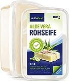 Glycerinseife transparent mit Aloe Vera zum Selber machen - 1kg für Kinder & Erwachsene Verpackung...