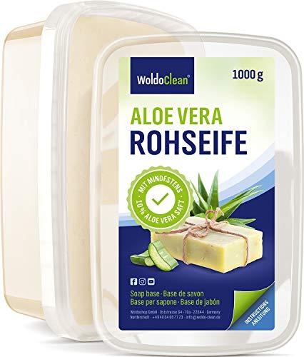 Glycerinseife transparent mit Aloe Vera zum Selber machen - 1kg für Kinder & Erwachsene Verpackung Mikrowelle geeignet
