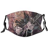 Cubierta de nariz reutilizable unisex Manos de guitarristas de jazz tocando la guitarra con telón de fondo de ilustraci Tapones para el polvo Tapones para los oídos ajustables con filtro reemplazable