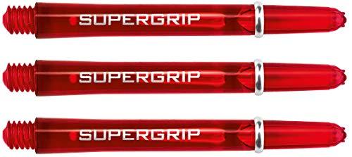 Harrows Supergrip - Cañas de Dardos (15 Unidades, Cortas), Color Rojo
