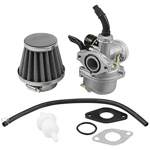 PZ19 Carburetor with 35mm Air Filter Compatible with Taotao 50cc 70cc 90cc 100cc 110cc 125cc Go Kart ATV Quad Honda CRF50 CRF70 CRF50F CRF70F CT70 CT90 CT110 XL70 Coolster Sunl Kazuma Falcon SSR Kandi