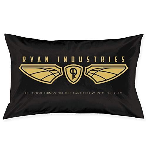 WH-CLA Fundas De Almohada De Tiro Bioshock Ryan Industries Logo Sofá Cumpleaños 60 X 40 Cm Anime Rectángulo Throw Pillow Cover Silla Linda Funda De Almohada Impresa Regalo Personalizada