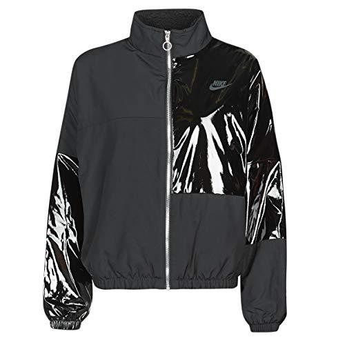 Nike W NSW ICN CLSH JKT SYN Fill, Negro/negro/gris ahumado., medium