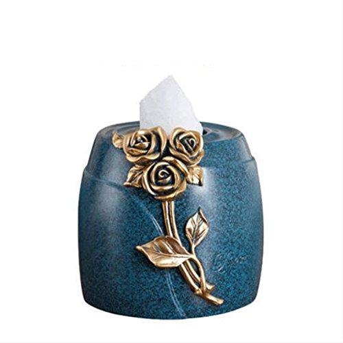 Boîte à mouchoirs Bac de Serviette Créatif Simple Mignon Boîte à Tissus Maison Boîte de pompage Salle de séjour Restaurant Roll Paper Tube GAOLILI (Color : Blue)