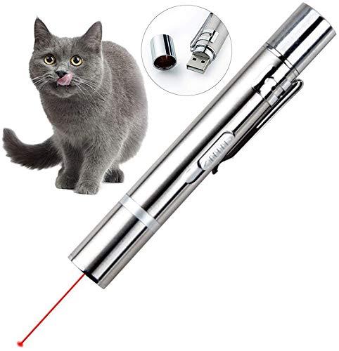 Queta Katzenspielzeug Set, LED Pointer Katzen Hund Spielzeug Haustier Interaktives Spielzeug für Katzen und Hunde mit USB-Direktladung