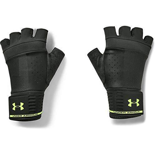 Under Armour Men's Weightlifting Gloves , Baroque Green (310)/Lime Fizz , Medium